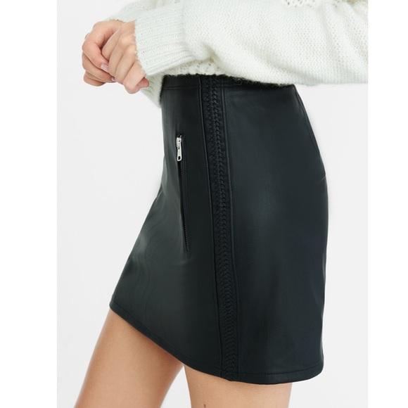 f03f4ccf7 Express Skirts   Highwaisted Faux Leather Mini Skirt   Poshmark